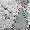 My grandson Nikolai on the pier.